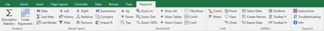 RegressIt - Free Excel regression add-in for PCs and Macs